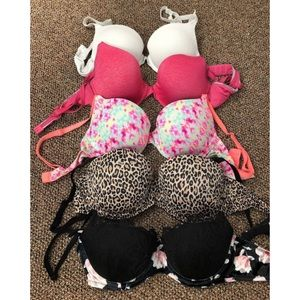 Set of 5 PINK/Victoria's Secret Bras